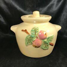Vintage Roseville Pottery RRP Sculptured Apple Bean Pot