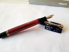 PELIKAN M400 BLACK/RED BRAND NEW!! 14K M-NIB 925 156