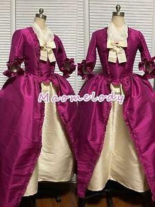 18th Century Dress Dupion Silk robe à l'Anglaise Cosplay Costume