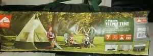 7 Person Instant Tepee Camping Tent Outdoor Family Ozark Trail 12' x 12'
