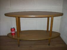 Formwood Console Wooden Table Two Tier Semi Oval Retro Vintage 1970s