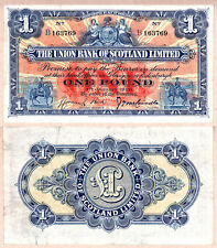 1926 £1 Union Bank of Scotland Issued Note. Nice Original VF/EF