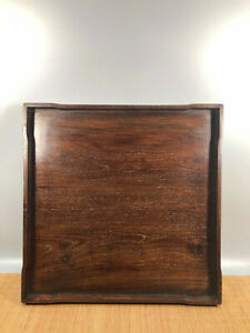 20'' Chinese Antique Wood plate natural Yellow rosewood plate tea tray