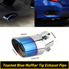 """2.5"""" Car Auto Exhaust Pipe Tip Tail Throat Muffler Stainless Steel Parts Oxilam"""