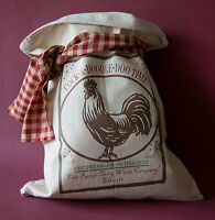 PRIMITIVE FLOUR SACK Vintage Rustic Feedsack Country Home Feed Sack Folk Art