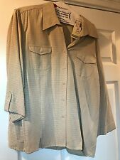 Dress Barn Beige/Black Plaid 3/4-Sleeve Blouse Size XL - NWT