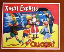1940s Vintage England Christmas Cracker Label  Xmas Express