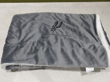 Spurs Season Member Fleece Blanket Throw Grey 136482
