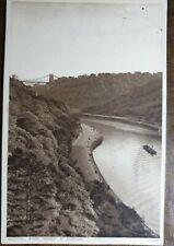 1937 Bristol. Avon Gorge & Portway. Postcard To: Bedford Place, Basingstoke