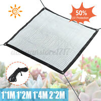 Shade Cloth Sail Net Cover Aluminum Foil Garden Flower Plant Protection 50%