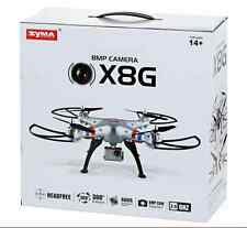 DRONE HD CAMERA 8.0MP REMOTE CONTROL QUADCOPTER GYRO SYMA X8G 2.4GHZ - *SILVER*