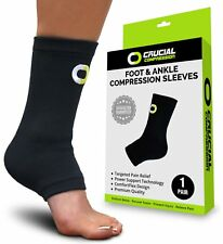 Ankle Brace Compression Support Sleeve (1 Pair) - BEST Ankle Compression Socks