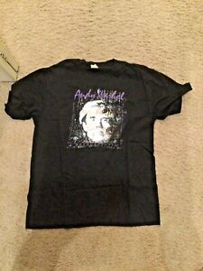 ANDY WARHOL Vintage 1989 London Hayward Gallery Retrospective T Shirt - Rare