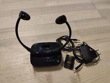 Philips SSC5001/10 AudioBoost kabelloser TV Kinnbügel-Kopfhörer inkl. 2 Akkus