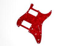 Stratocaster Pickguard HH Red Pearl 3Ply - Golpeador Strat HH rojo perlado