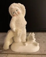 "Dept 56 SNOWBABIES Porcelain Ornament ""But I Have To Have My Blankie"""
