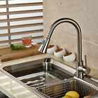 Single Handle Kitchen Sink Pull Out Spray Mixer Tap Faucet, Nickel Brushed