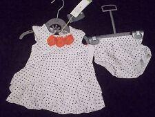 BNWT Nuovo con etichette Petit Lem Bianco Spot Dress & Pants - 3 mesi