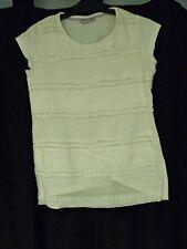 Girls Matalan T-Shirt White Age 8-9