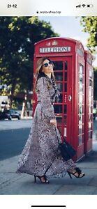 lily and lionel dress - size L (10-14) Leopard Kitty Maxi Dress