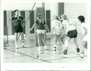1980s Kang Lu Chinese Volleyball Coach Original News Service Photo