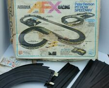 AFX Aurora Model Motoring Track Set 1971 #2517 #2542 #2519: 14 Tracks Box Decals
