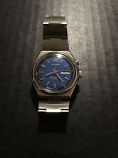 Vintage Seiko bellmatic blue dial Automatic Chronograph Watch