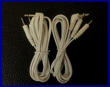 Pair Of TENS Electrode Lead Wires With 4 Pin Connectors 3.5mm
