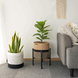 Woven Plant Basket Pot Cotton Rope Flower Storage Straw Pot Home Garden Decor