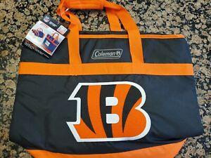 New Coleman NFL Cincinnati Bengals Grocery Getter Insulated Tote 40 Can Orange
