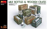 MiniArt 1/35 35573 Milk Bottles & Wooden Crates (Buildings & Accessories)