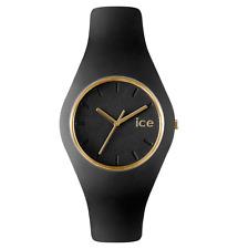 Ice Watch Uhr ICE Glam Black Unisex ICE.GL.BK.U.13 schwarz dünne Uhr Silikon