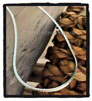 Collier Fin Maille Anglaise 45 cm Argent Massif 925/000 Bijoux Femme