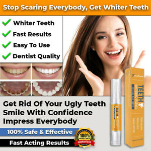 #1 NEW SAFE TEETH WHITENING PEN WHITE TOOTH KIT STRIPS TOOLS GEL FAST ACTING