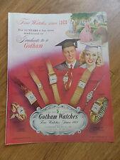 1948 Gotham Watches Ad Graduation Theme Fine Watches since 1868