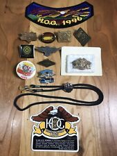Vintage Harley Davidson Pin Lot Mda Sturgis Pinbacks Lapel Button Patch Sticker