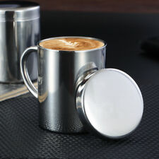 260ML Stainless Steel Camping Mug Cup Drinking Coffee Tea Handle Cup with Lid
