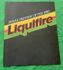 John Deere (Sneak Preview of the 1980 Liquifire Snowmobile) Brochure   (Rare)