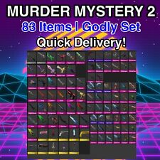 Murder Mystery 2 MM2 All Godlies, Vintages, Ancients (Godly Set 83 Items Roblox)