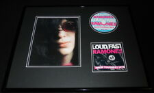 The Ramones Framed 16x20 Toughest Hits Cd & Photo Set