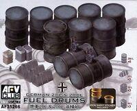 AFV Club 1/35 AF35266 WWII German 20L &200L Fuel Drums w/Iron Sheet Sticker
