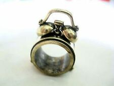 Lovely vintage Style Bronze Clock Band Ring Size N