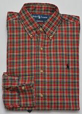 Men's RALPH LAUREN Red Colors Plaid Flannel Shirt Small S NWT NEW $89+