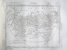 88 Vosges gravure carte géographique Tardieu 1840 (1c)
