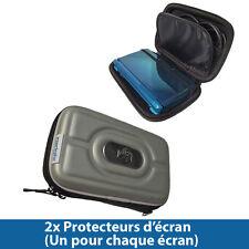 Argent Coque Rigide Case EVA pour Nintendo 3DS 2011 Games Console Housse Cover