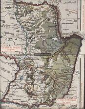 PARAGUAY LA MAPA DEL PARAGUAY DOBLE POSTAL ED. GRUTER 24425-24426