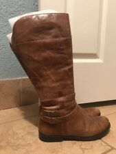 Coconuts E. Blakely WC Women's Tall Zippered Brown Boots 8.5M Wide Calf