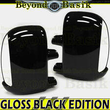 1999-2007 Ford F250-F550 GLOSS BLACK Mirror Covers for TOWING w/turn signal hole
