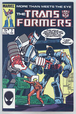 Transformers #7 (1st Print) VF- Johnson, Optimus Prime, Megatron, Decepticons