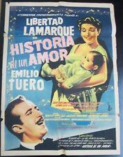 """""""Historia de un Amor"""" - Orig. Theatr. Poster, 1956 / 36 3/4"""" x 27"""", Good"""